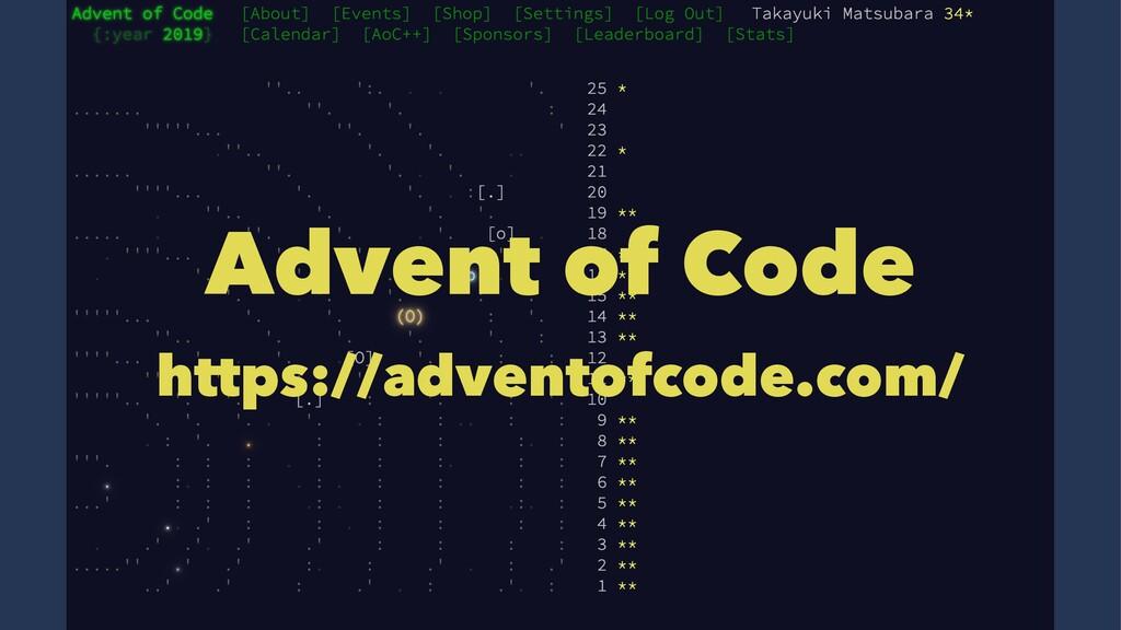 Advent of Code https://adventofcode.com/