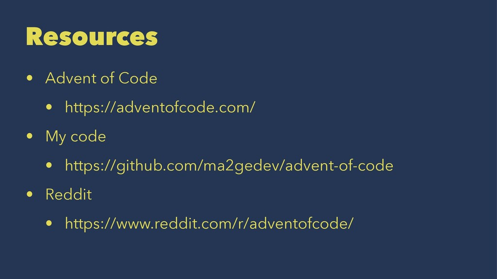 Resources • Advent of Code • https://adventofco...