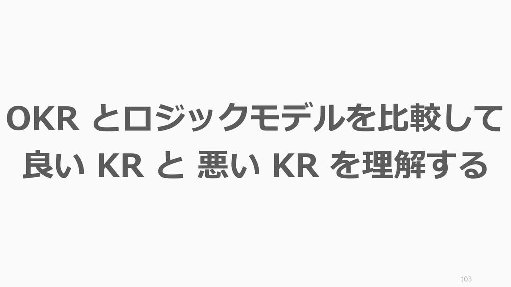 103 OKR とロジックモデルを比較して 良い KR と 悪い KR を理解する