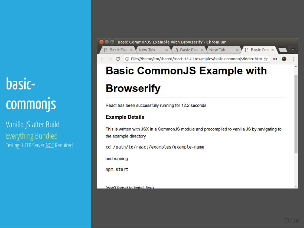30 / 34 basic- commonjs Vanilla JS after Build ...