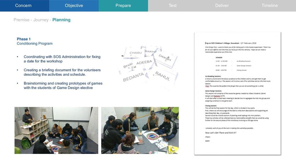 Concern Objective Premise - Journey - Planning ...