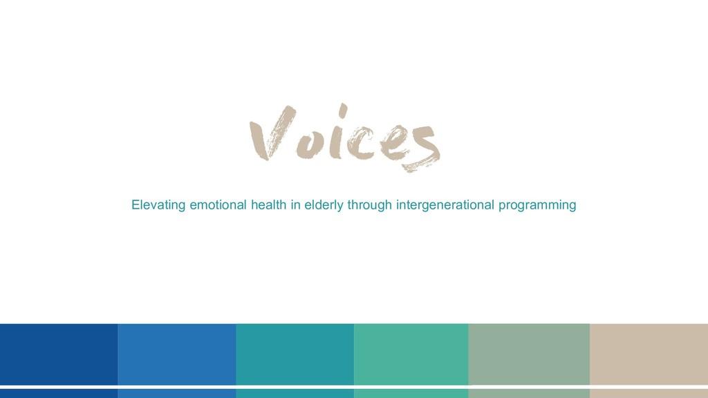 Elevating emotional health in elderly through i...
