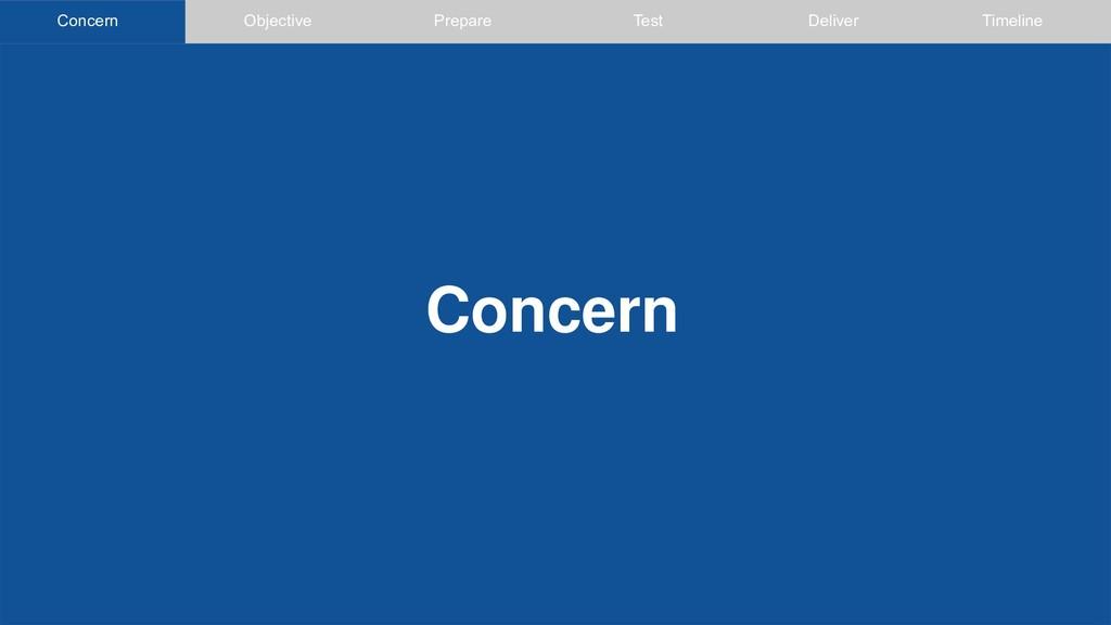 Concern Objective Concern Prepare Test Deliver ...