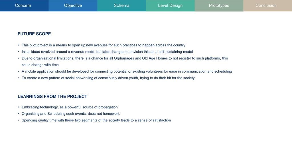 Concern Objective Schema Level Design Prototype...