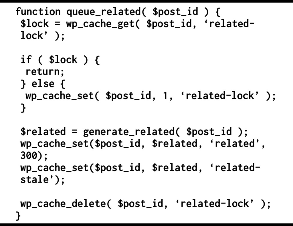 function queue_related( $post_id ) { $lock = wp...