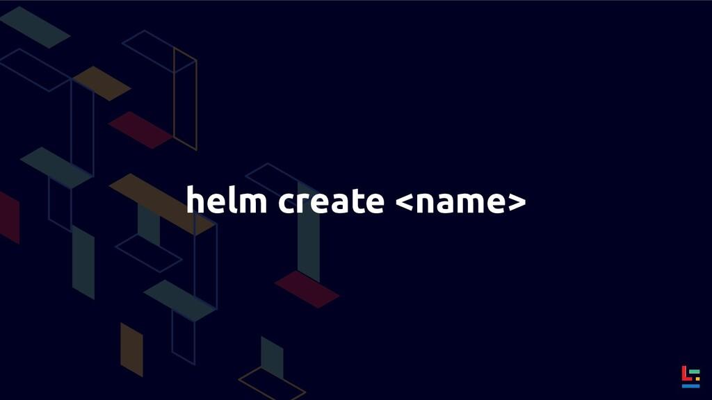 helm create <name>