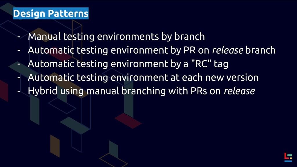 Design Patterns - Manual testing environments b...