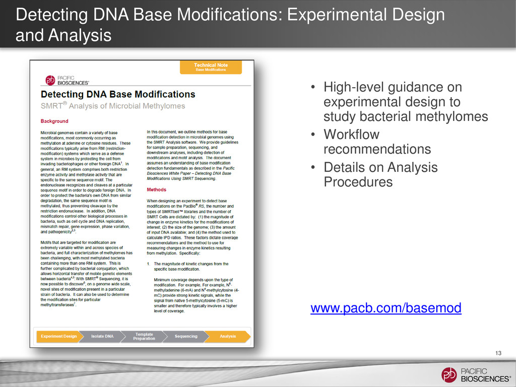 Detecting DNA Base Modifications: Experimental ...