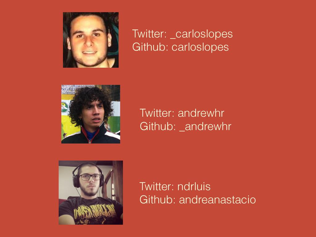Twitter: _carloslopes Github: carloslopes Twitt...