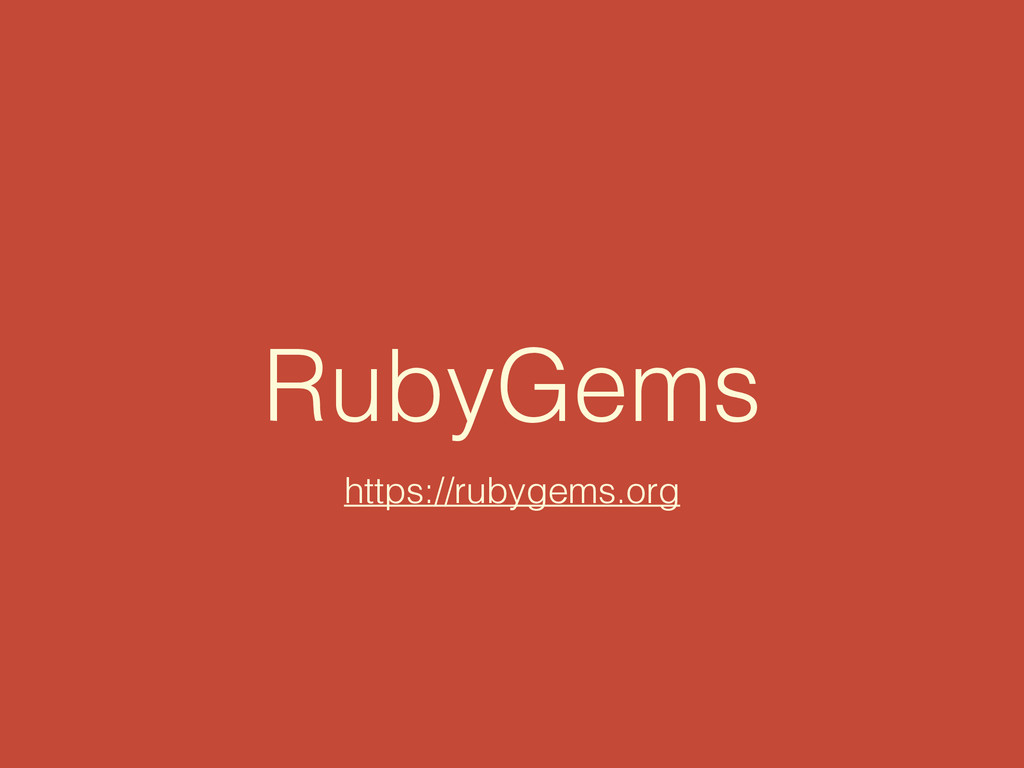 RubyGems https://rubygems.org