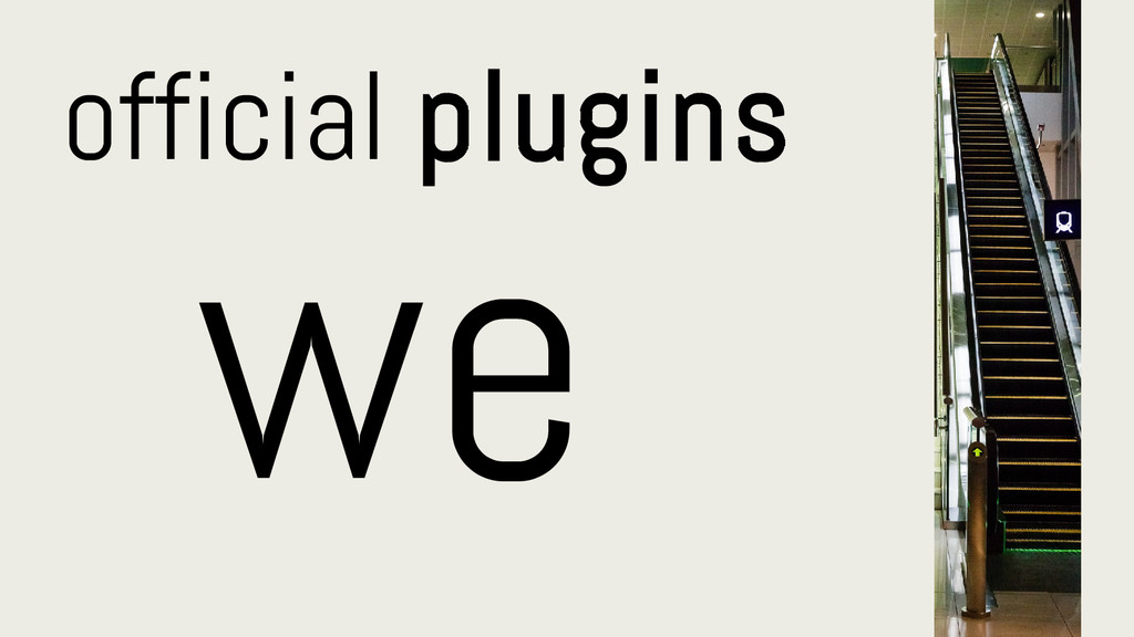 official plugins we