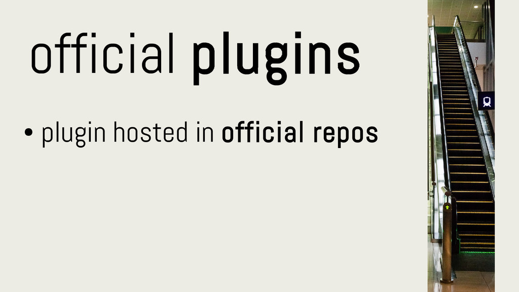 official plugins ● plugin hosted in official re...