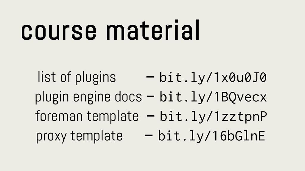 course material list of plugins – bit.ly/1x0u0J...