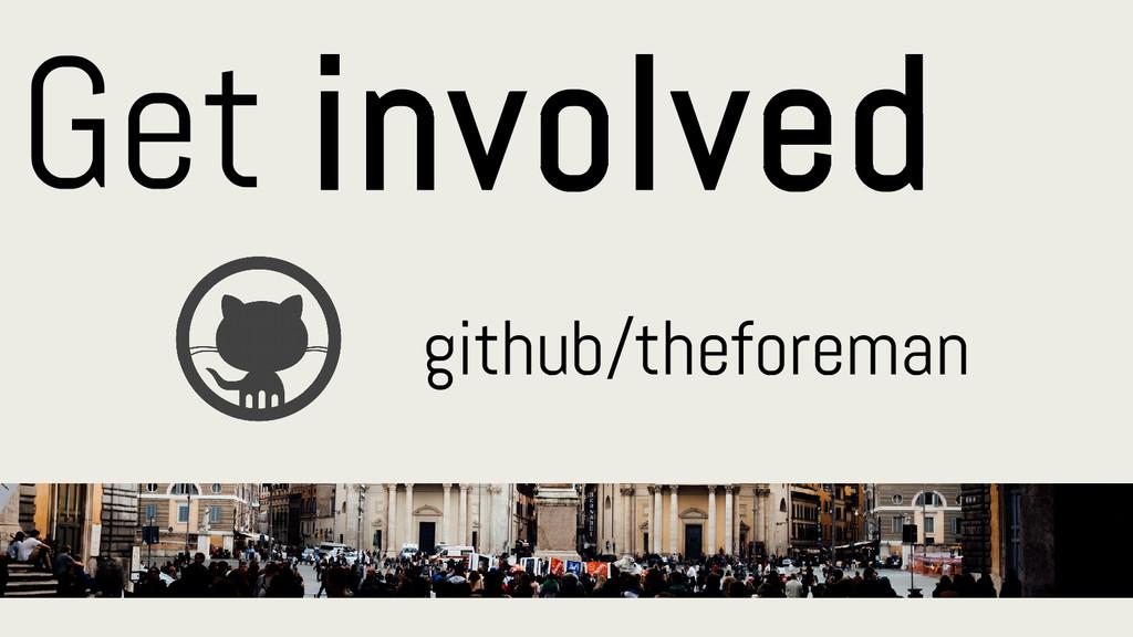 Get involved github/theforeman