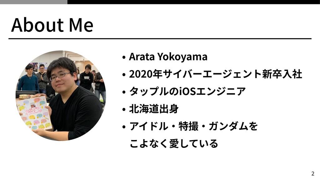 About Me • Arata Yokoyama   • 2020年サイバーエージェント新卒...