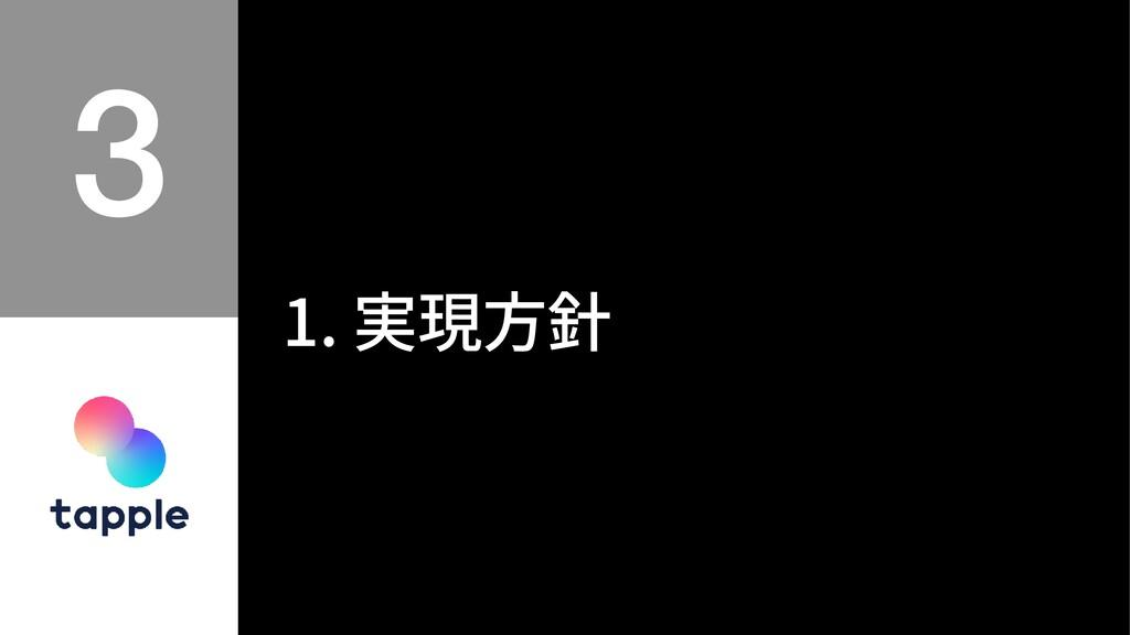 1. 実現⽅針
