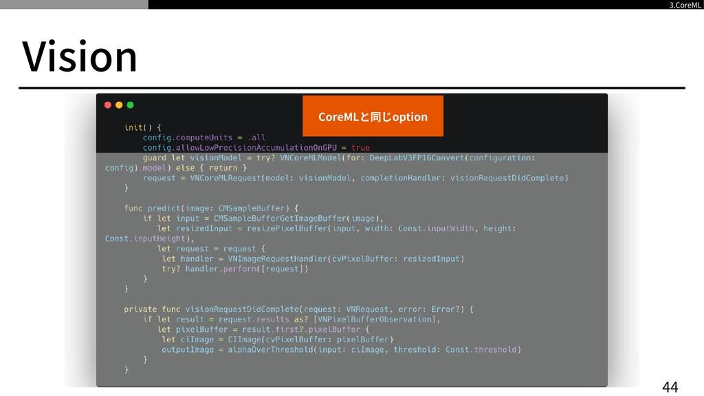 Vision 4 4 3 .CoreML CoreMLと同じoption