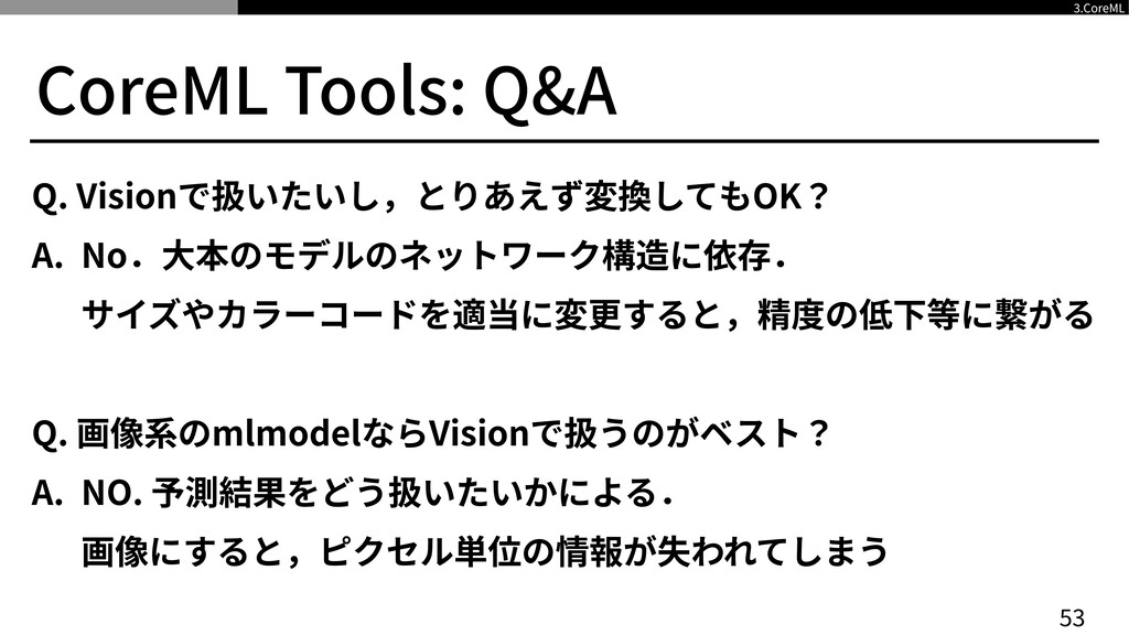 CoreML Tools: Q&A Q. Visionで扱いたいし,とりあえず変換してもOK?...