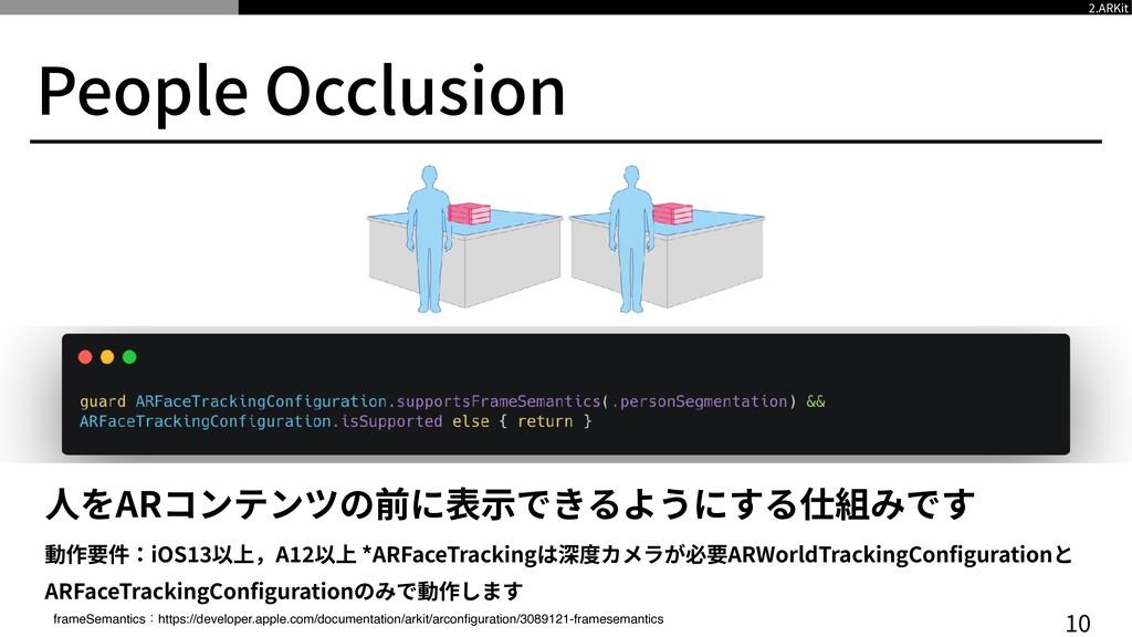 People Occlusion 1 0 ⼈をARコンテンツの前に表⽰できるようにする仕組みで...