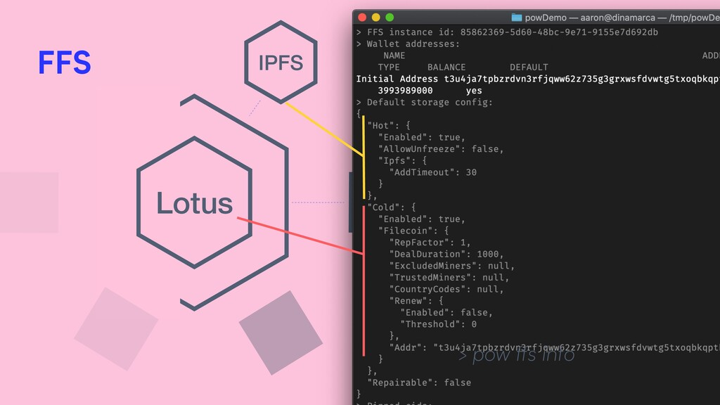 FFS Lotus IPFS > pow ffs info FFS