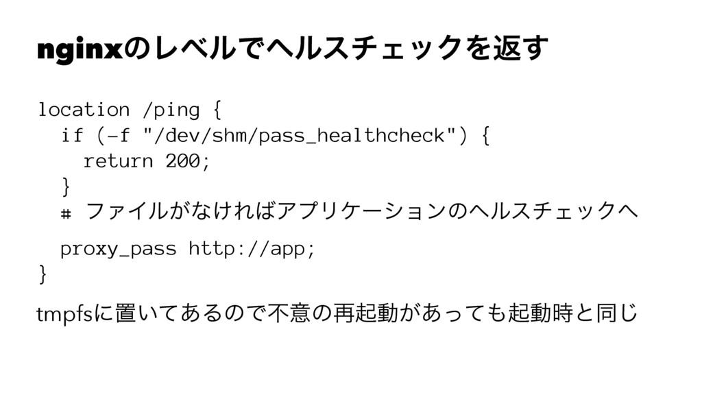 "nginxͷϨϕϧͰϔϧενΣοΫΛฦ͢ location /ping { if (-f ""/..."