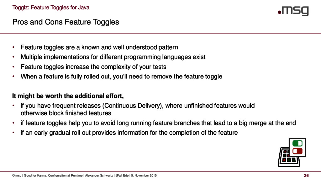 Togglz: Feature Toggles for Java Pros and Cons ...