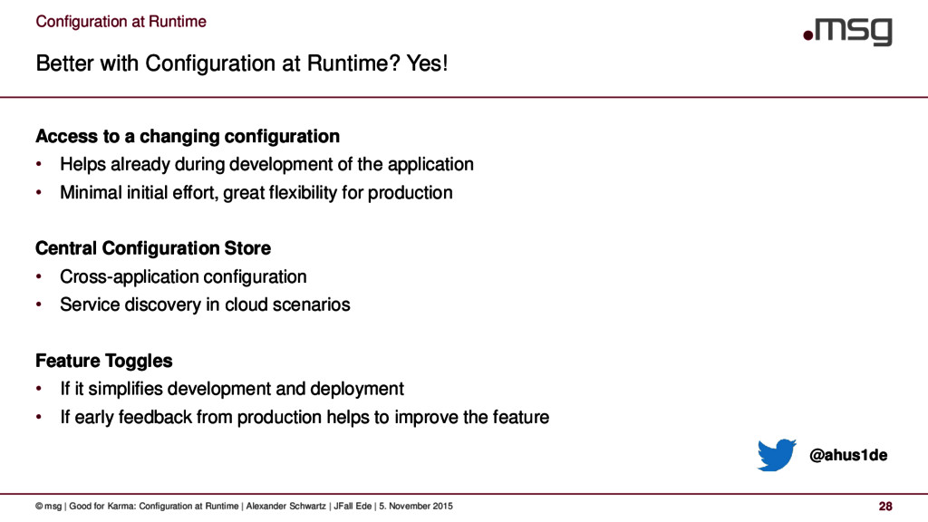 Configuration at Runtime Better with Configurat...