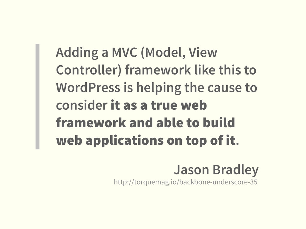 Adding a MVC (Model, View Controller) framework...