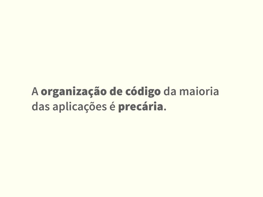 A organização de código da maioria das aplicaçõ...