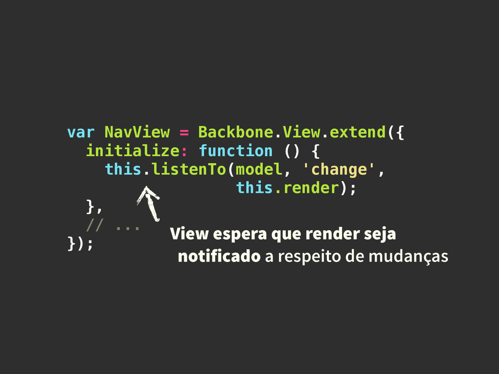 var NavView = Backbone.View.extend({ initialize...