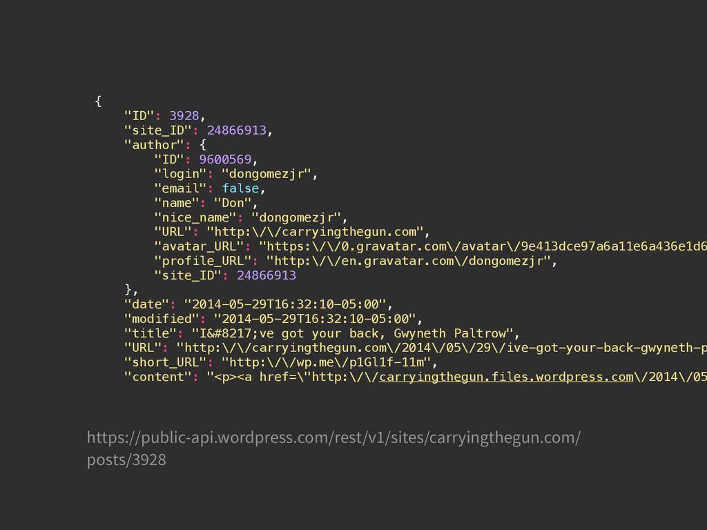 "{ ""ID"": 3928, ""site_ID"": 24866913, ""author"": { ..."