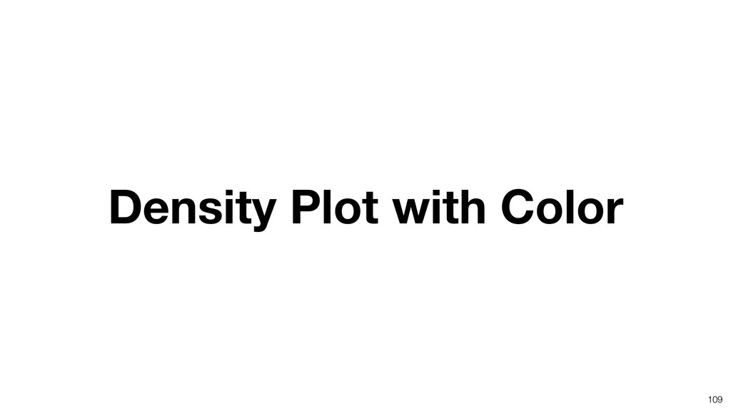 109 Density Plot with Color