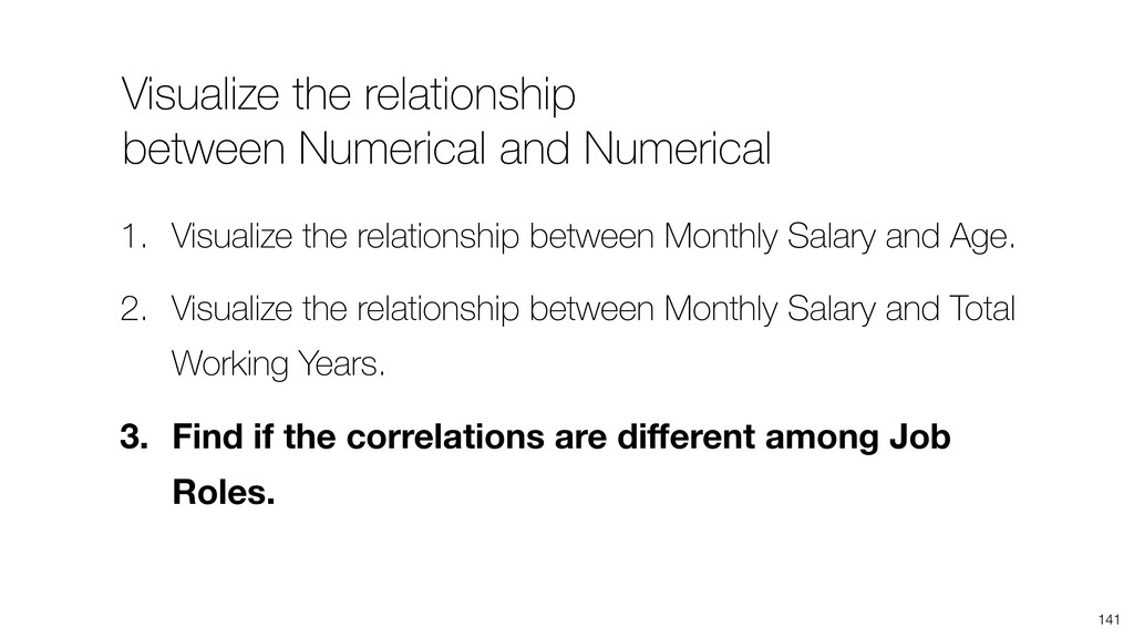 Visualize the relationship between Numerical an...
