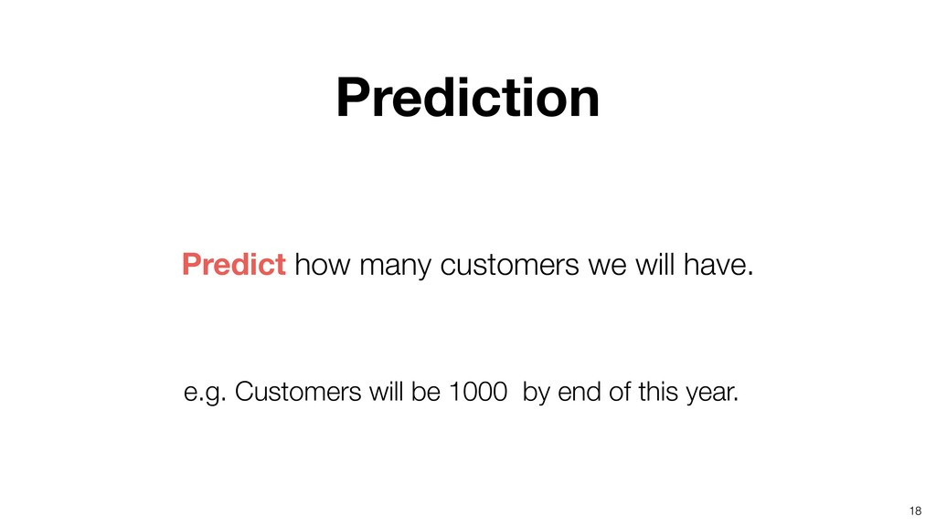 18 Predict how many customers we will have. Pre...