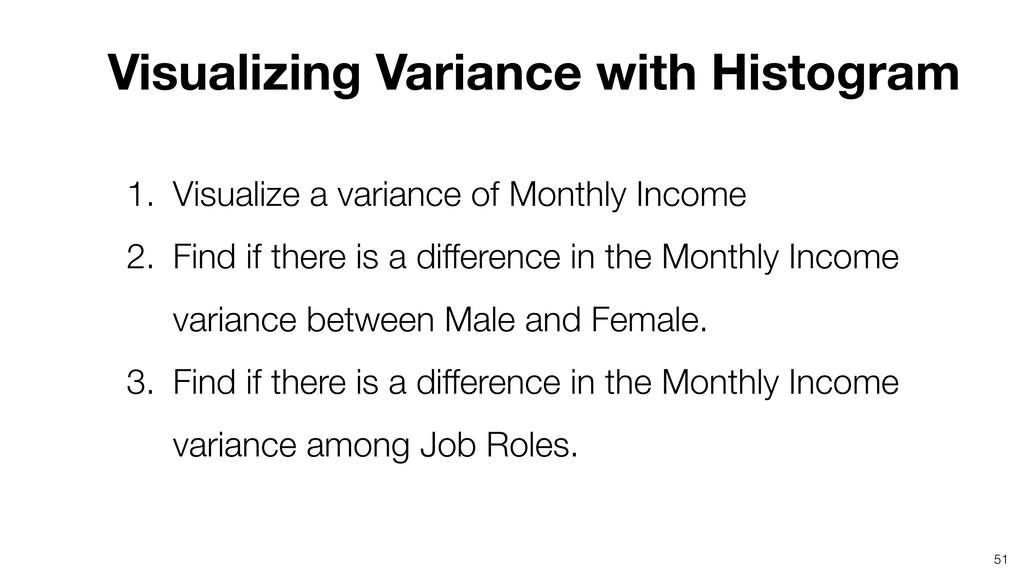 Visualizing Variance with Histogram 51 1. Visua...