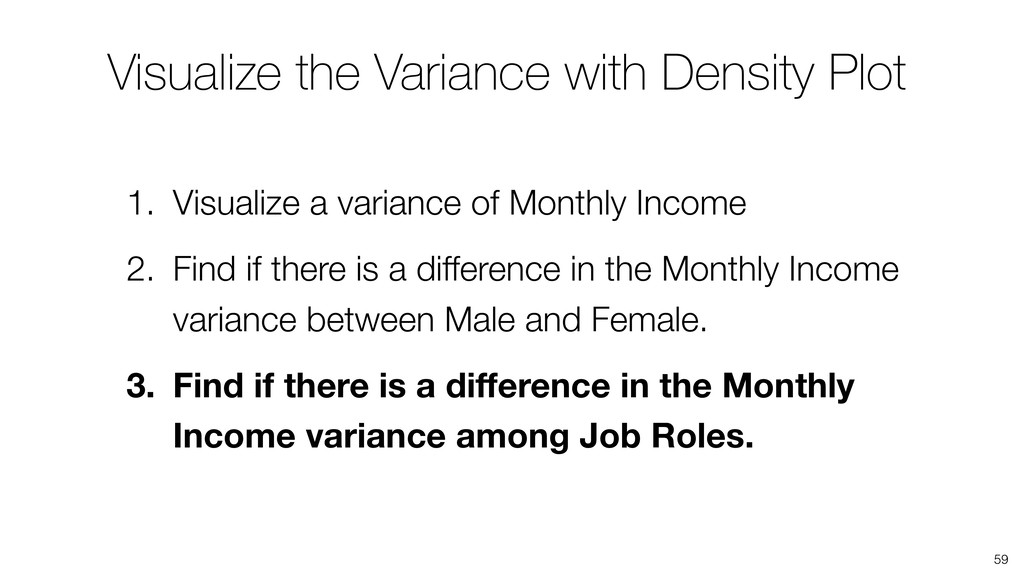 Visualize the Variance with Density Plot 59 1. ...