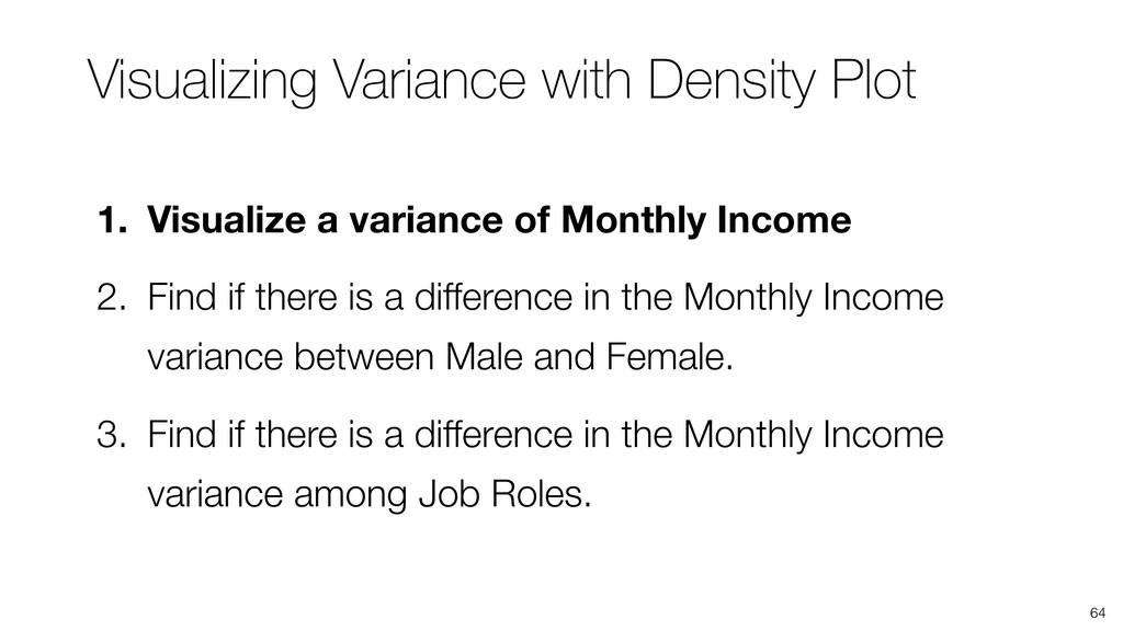 Visualizing Variance with Density Plot 64 1. Vi...