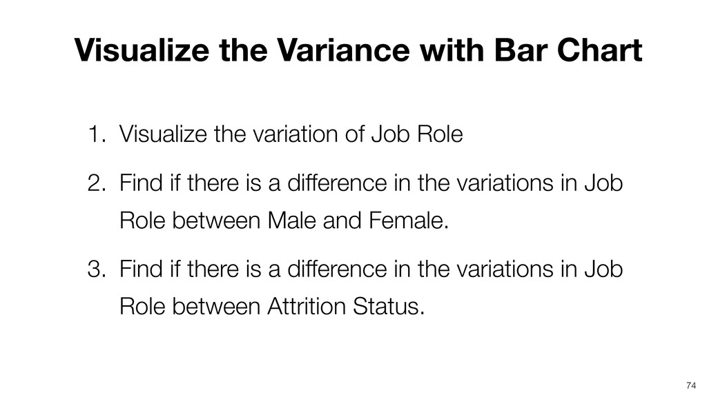 Visualize the Variance with Bar Chart 74 1. Vis...