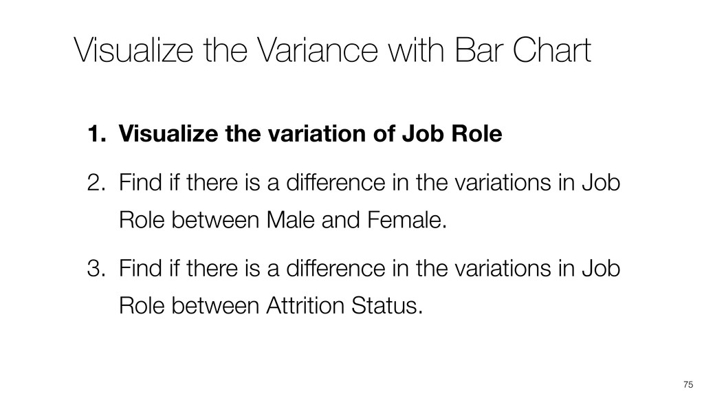 Visualize the Variance with Bar Chart 75 1. Vis...