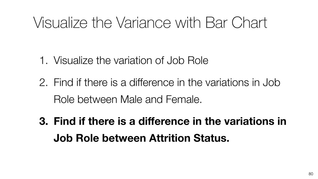 Visualize the Variance with Bar Chart 80 1. Vis...
