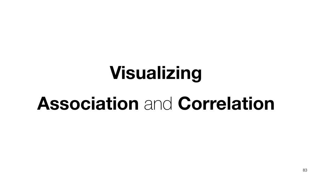 Visualizing Association and Correlation 83