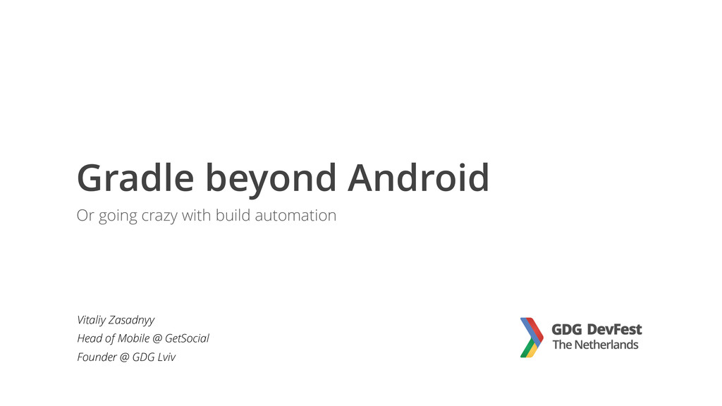 Gradle beyond Android Or going crazy with build...