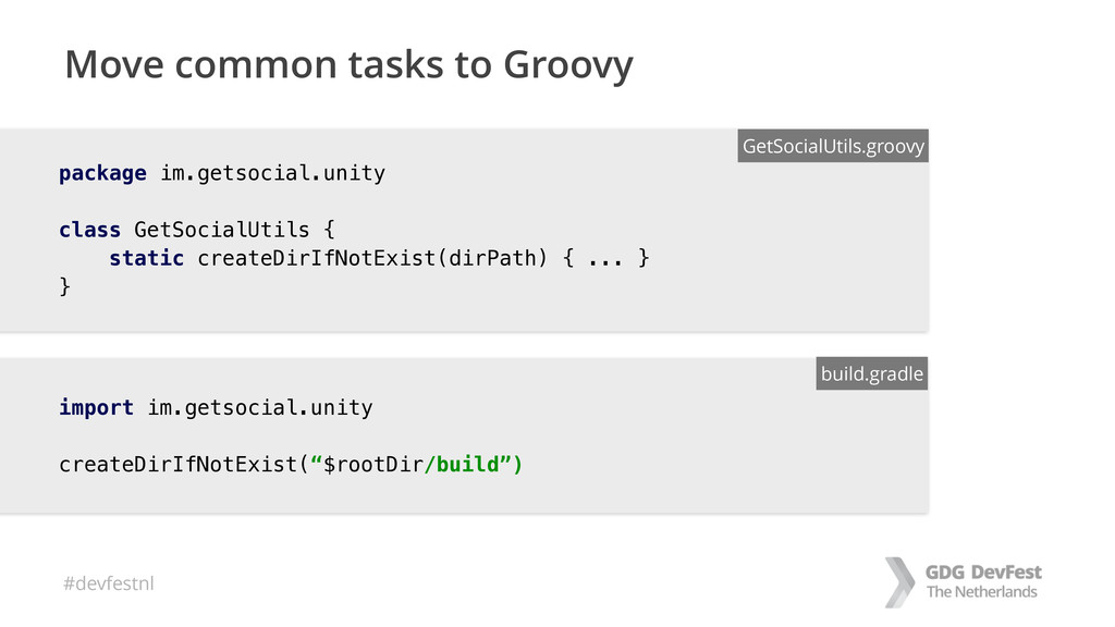 #devfestnl Move common tasks to Groovy import i...