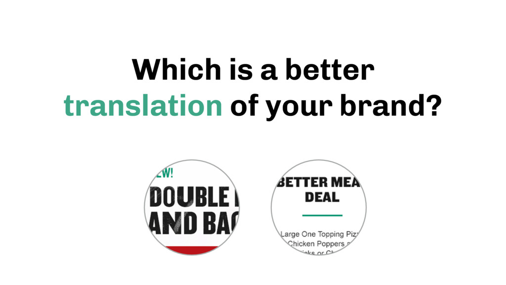 Which is a better translation of your brand?