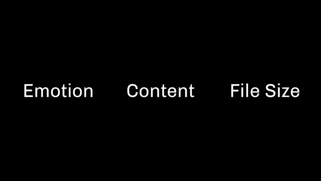 Emotion Content File Size