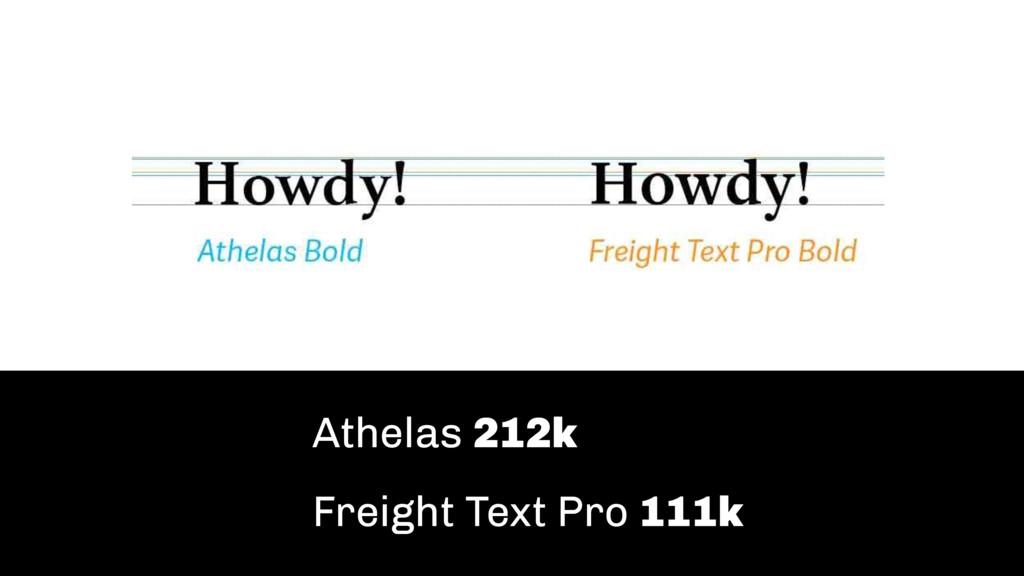 Athelas 212k Freight Text Pro 111k