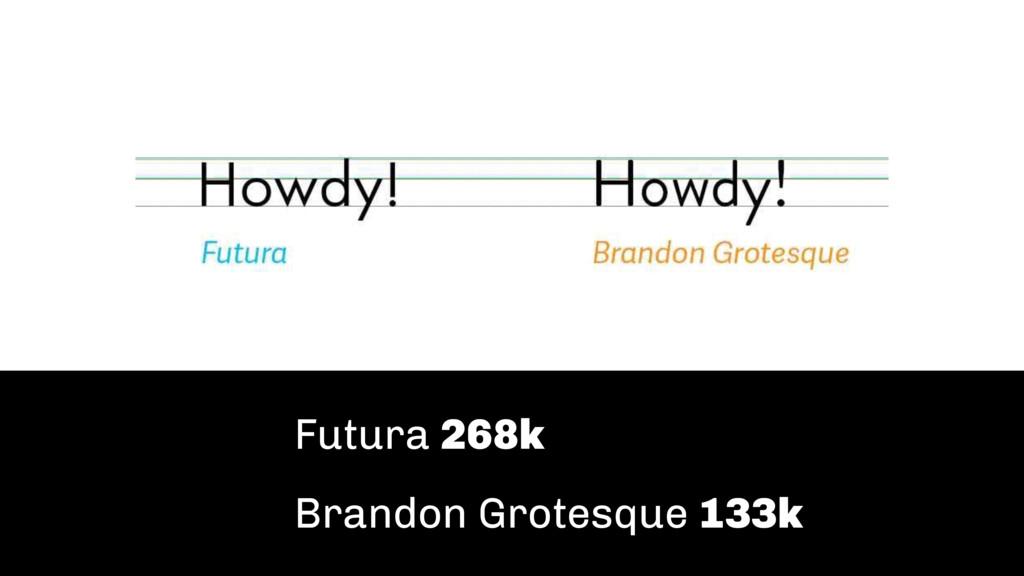 Futura 268k Brandon Grotesque 133k