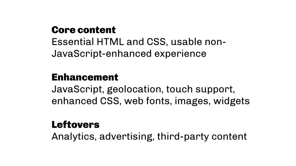 Core content Essential HTML and CSS, usable non...