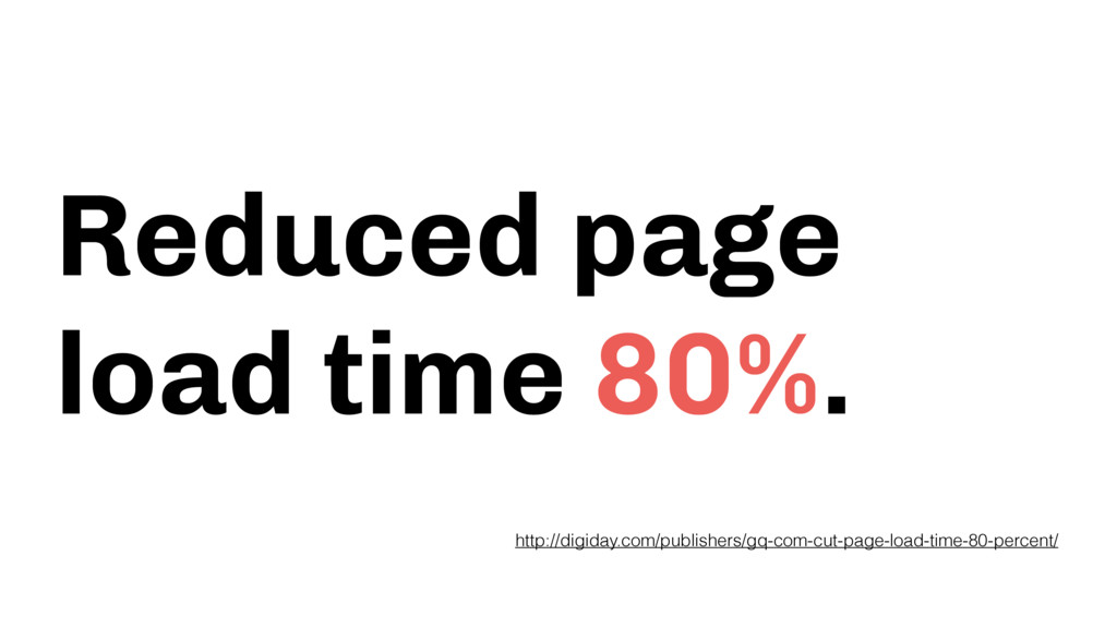 Reduced page load time 80%. http://digiday.com/...