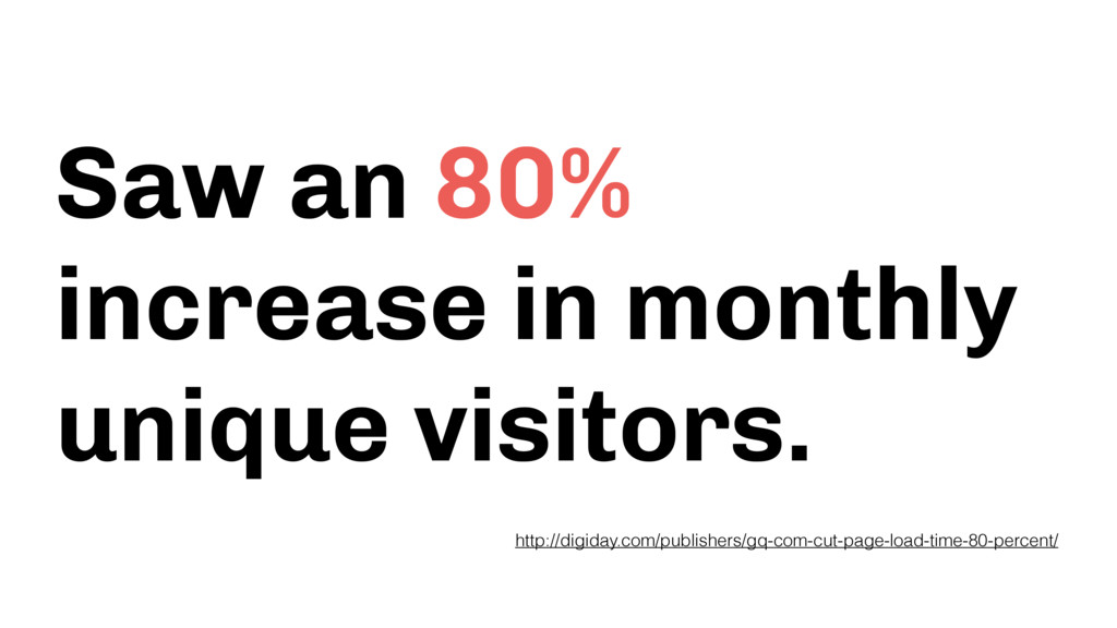Saw an 80% increase in monthly unique visitors....